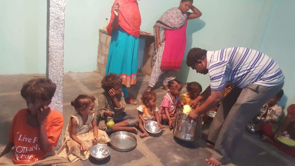Pastor in India that Awaken Ministries supports. This pastor has dedicated his life to sharing the love of Jesus. He opens the church doors to children everyday where they are fed and educated about Jesus.